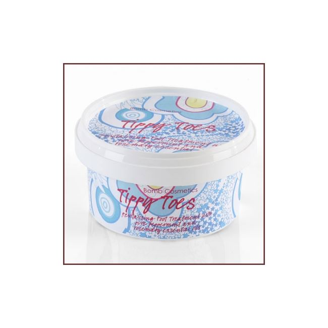 Bomb Cosmetics Tippy Toes Revitalising Foot Cream Pot 200g