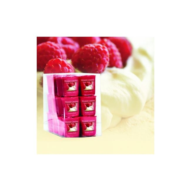 Village Candle Decor Votive Raspberry Vanilla 61gm