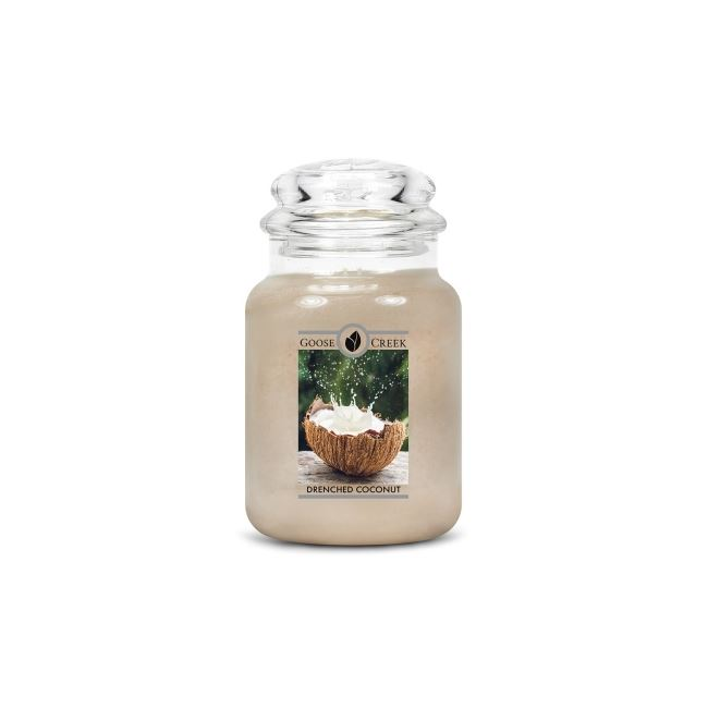 Goose Creek Large Candle Drenched Coconut  24oz