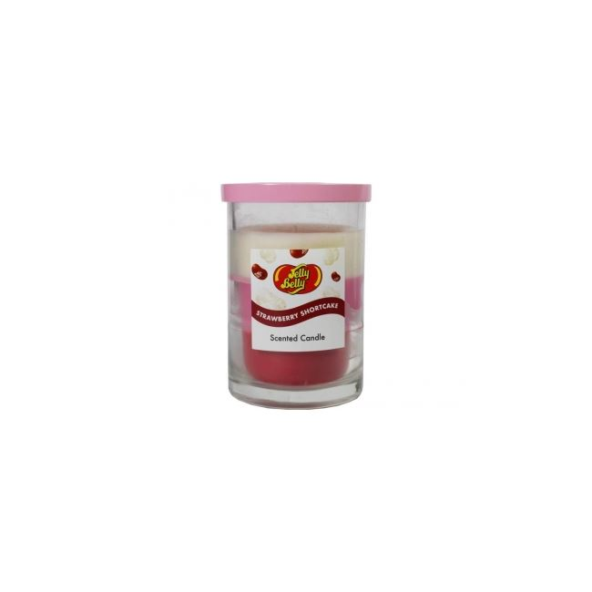 Jelly Belly Candle 3 Layered Candle Strawberry Shortcake 11oz