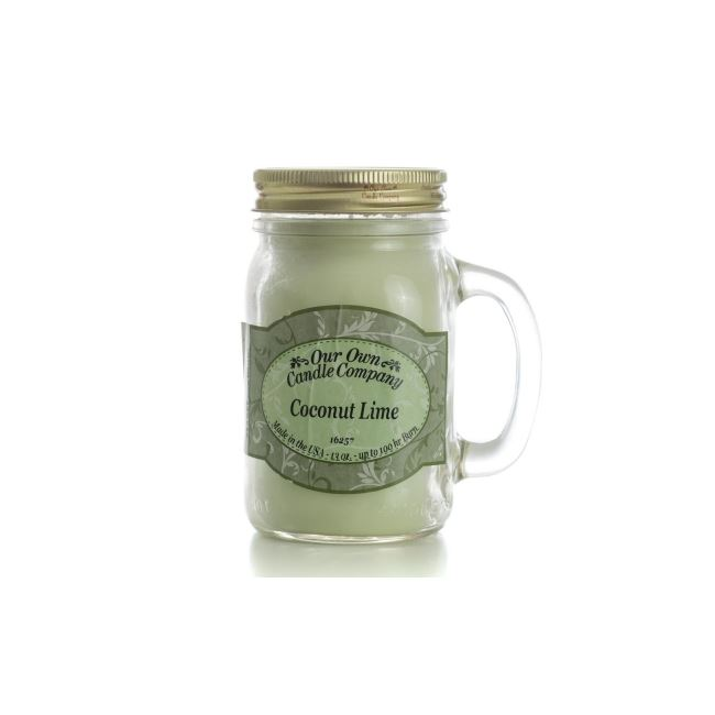 Our Own Candle Company Large Mason Coconut Lime 13oz