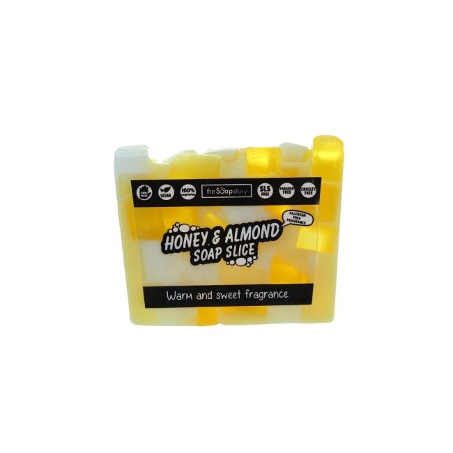 The Soap Story Honey & Almond Soap Slice 120g