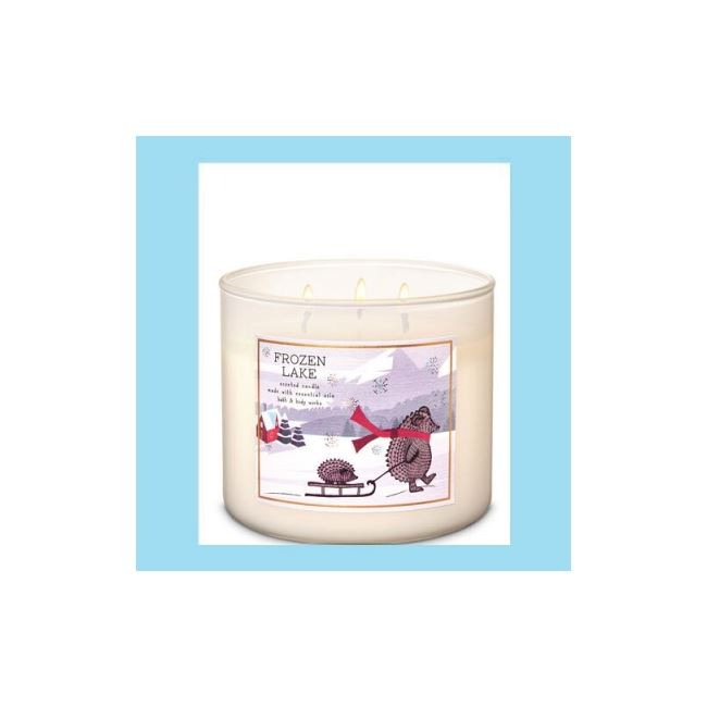 Bath And Body Works 3 Wick Candle 14.5oz Frozen Lake