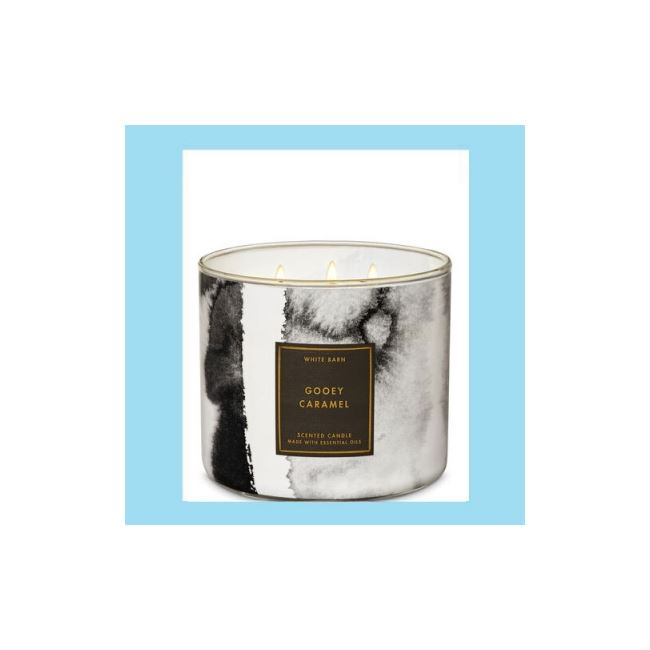 Bath And Body Works 3 Wick Candle 14.5oz Gooey Caramel