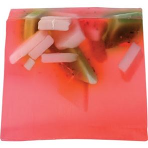 Bomb Cosmetics Soap Slice Strawberry Fields 100gram