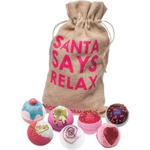 Bomb Cosmetics Santa Says Relax Hessian Sack Gift Set