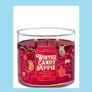 Bath & Body Works 3 Wick Candle 14.5oz Winter Candy Apple