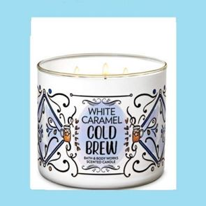 Bath & Body Works 3 Wick Candle 14.5oz  White Caramel Cold Brew