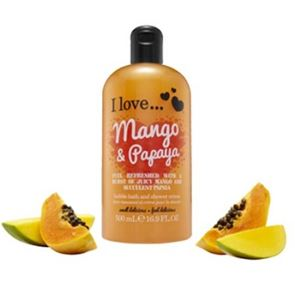 I Love...Mango & Papaya Bubble Bath and Shower Gel 500ml