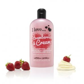 I Love... Strawberries & Cream Bubble Bath and Shower Gel 500ml