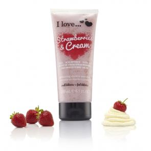 I Love...Strawberries & Cream Exfoliating Shower Smoothie 200ml