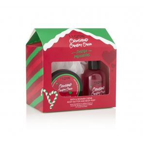I Love...Crush Candy Cane Bath Time Treats Gift Set