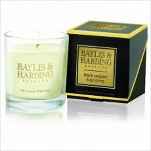 Baylis & Harding Black Pepper & Ginseng  Single Wick Candle