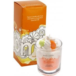 Bomb Cosmetics Piped Glass Candle Peach Bellini