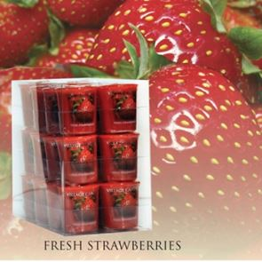 Village Candle Votive Fresh Strawberries 61gm