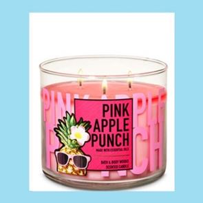 Bath And Body Works 3 Wick Candle 14.5oz Pink Apple Punch