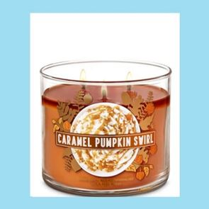 Bath And Body Works 3 Wick Candle 14.5oz  Caramel Pumpkin Swirl