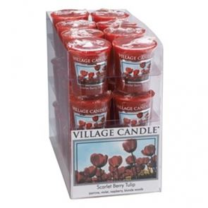 Village Candle Decor Votive Scarlet Berry Tulip 61gm