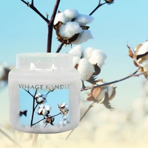 Village Candle Jar Small Natural Cotton 701gm