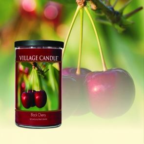 Village Candle Decor Jar Small Black Cherry
