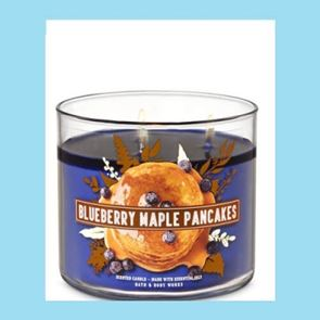 Bath & Body Works 3 Wick Candle 14.5oz Blueberry Maple Pancakes