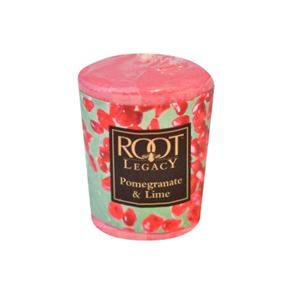 Root Candle Votive Pomegranate Lime