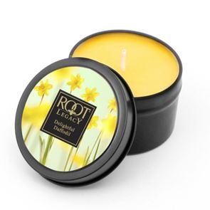 Root Candle Travel Tin Delightful Daffodil