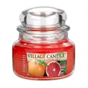 Village Candle Jar Small Pink Grapefruit  Ltd Ed  701gm