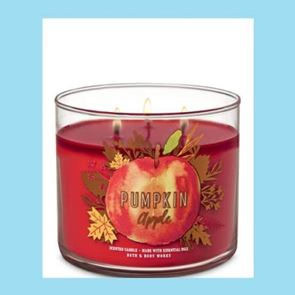 Bath And Body Works 3 Wick Candle 14.5oz  Pumpkin Apple