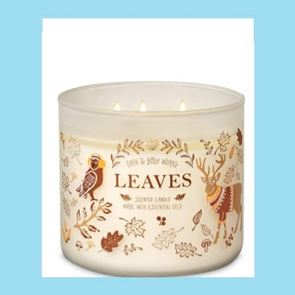 Bath And Body Works 3 Wick Candle 14.5oz Leaves