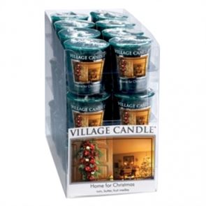 Village Candle Votive Home For Christmas 61gm
