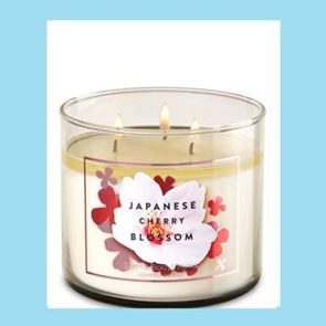 Bath And Body Works  3 Wick Candle 14.5oz Japanese Cherry Blossom