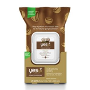 Yes To Coconut Hydrate & Restore Cleansing Wipes x 25 Wipes