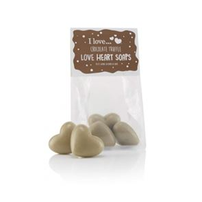 I Love Cosmetics .....Chocolate Truffle Heart Shaped Soaps
