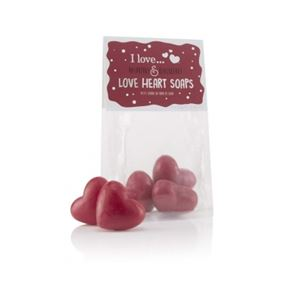 I Love Cosmetics .....Raspberry & Blackberry Heart Shaped Soaps