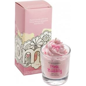 Bomb Cosmetics Piped Glass Candle Pink Bubbly