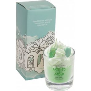 Bomb Cosmetics Piped Glass Candle Mojito Mojo
