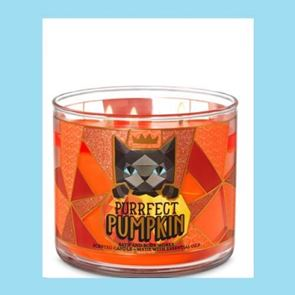 Bath And Body Works 3 Wick Candle 14.5oz Purrfect Pumpkin