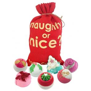 Bomb Cosmetics Naughty Or Nice Hessian Sack Gift Set