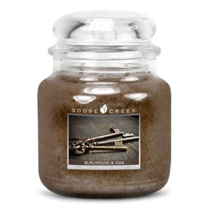 Goose Creek Medium Candles Burlwood Oak 16oz