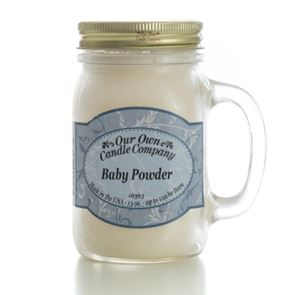 Our Own Candle Company Large Mason Baby Powder 13oz