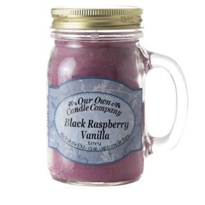 Our Own Candle Company Large Mason Black Raspberry 13oz