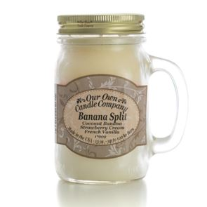 Our Own Candle Company Large Mason Banana Split 13oz