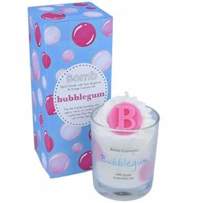 Bomb Cosmetics Piped Glass Candle Bubble Gum