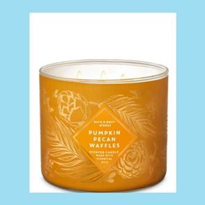 Bath And Body Works 3 Wick Candle 14.5oz Pumpkin Pecan Waffles