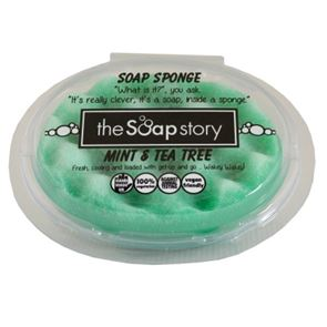 The Soap Story Mint & Tea Tree Massaging Sponge Soap 150g
