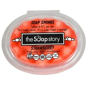 The Soap Story Strawberry Massaging Sponge Soap 150g