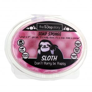 The Soap Story Sloth Massaging Sponge Soap 150g