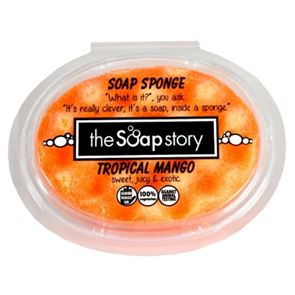 The Soap Story Tropical Mango Massaging Sponge Soap 150g