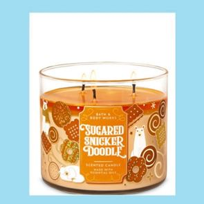 Bath & Body works 3 Wick Candle 14.5oz Sugared Snickerdoodle